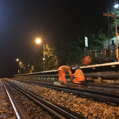 Aughton Park Station – Platform Lighting Rewire