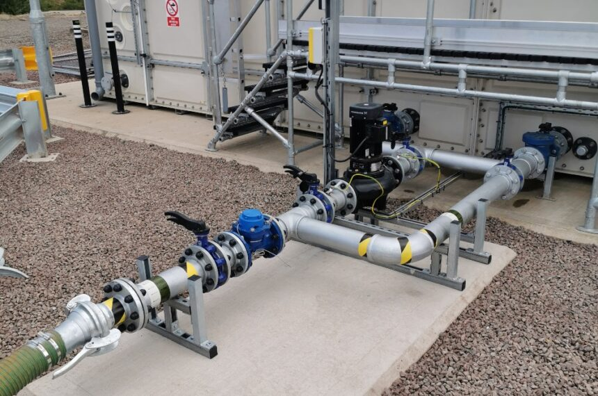 Mechanical cold water outlet pipework