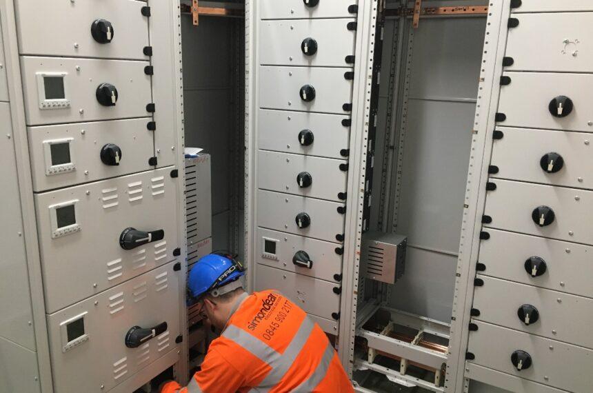 RISQS Electricians installing LV panel board